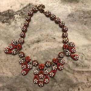 J crew orange statement necklace